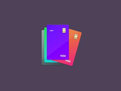 Vertical Debit Card visa gradient debit card vertical