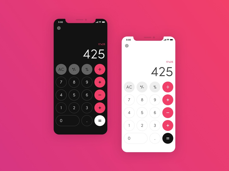 DailyUI 004 - Calculator gradient iphone xs mobile numbers buttons dailyui 004 ui  ux calculator ui calculator