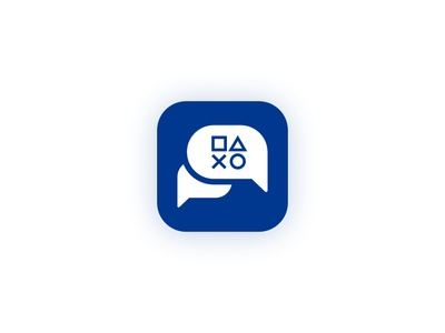 App Icon (Playstation Messages) - Daily UI #005 daily ui 005 app icon message app icon messages playstation logo branding icon