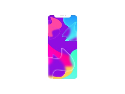 iPhone XS - Background glows colors gradient background gradient background iphone xs ios