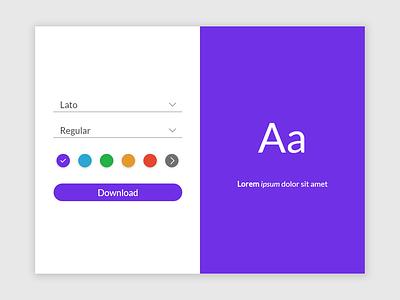 Daily UI - 007 website web minimal flat ui design dailyui