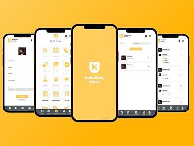 College Mobile App figmadesign figma minimal ux ui flat design app