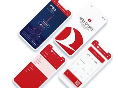 Turkish Airlines Redesign minimal design app ux ui flat