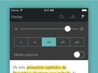 New font size and brightness adjust