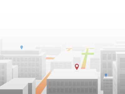 A white city illustration landscape illustrator simple building map