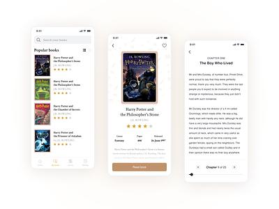 Reading books App books reading app mobile app ui design