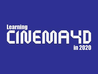My goal in 2020 goal cinema4d origami 2020 typography