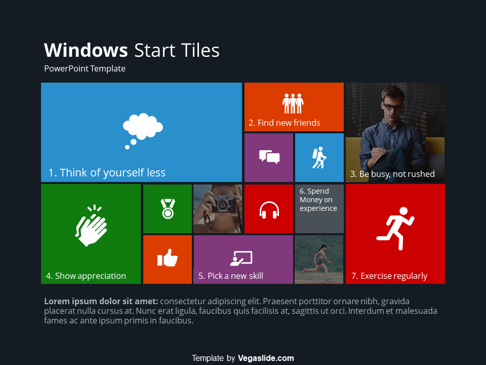 Windows Start Tiles Powerpoint Template Download Free By