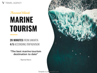 Marine Tourism PowerPoint Template