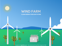 Wind Farm Landscape PowerPoint Template (DOWNLOAD FREE)
