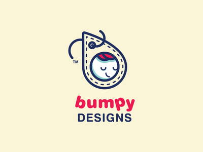 BumpyDesigns identity logo branding illustration vector mark icon