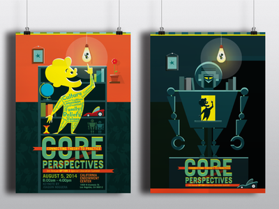 Core Perspectives illustration graphic design print design poster brochure