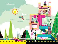 4th Annual Special Education Summit (Aug. 2015) design brochure illustration