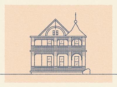 Victorian Mansion mansion building illustration wedding victorian austin texas