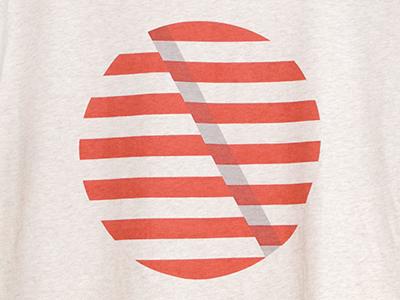 Tee for Das Monk das monk tshirt tee stripes circle shadow screenprint