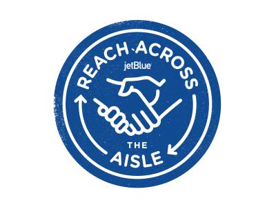 Reach Across The Aisle 2 logo badge handshake arrow