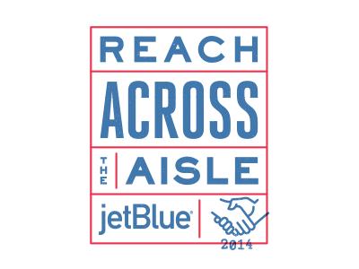 Reach Across The Aisle 3 logo handshake badge stamp