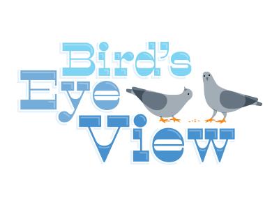 Bird's Eye View 1 logo pigeon