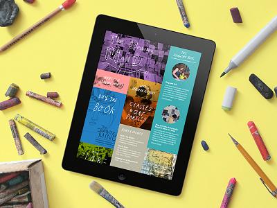 Portfolio Update semplice hand drawn portfolio tablet drawing website