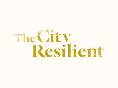The City Resilient type logo logotype texture city identity branding