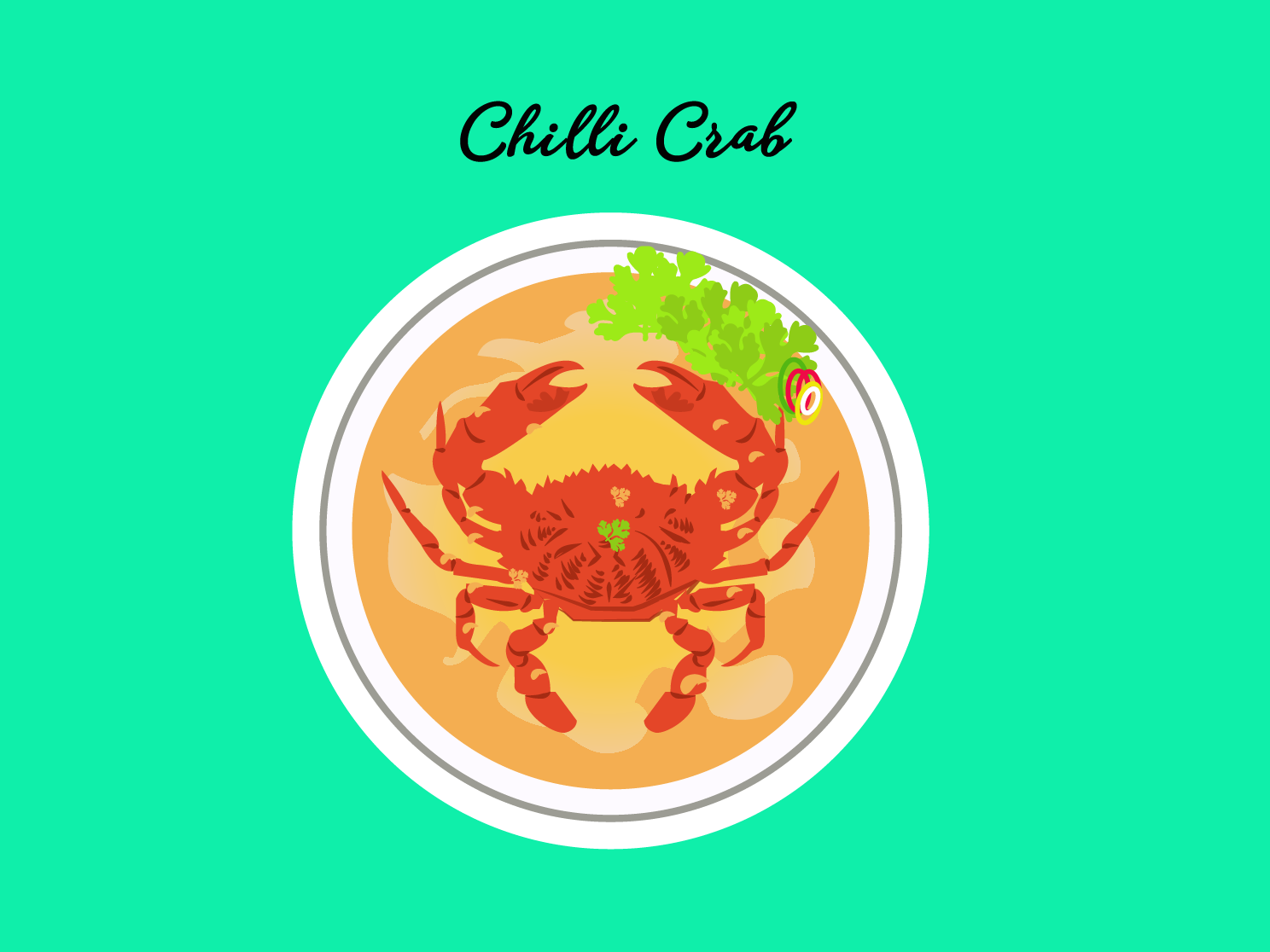 Asian food spicy crabs foodillustration foodies food art design vector illustration daily illustration daily art