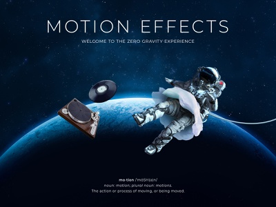 Elementor Motion Effect Page Design collage illustration ballet gravity music space web design motioneffect website website design pagebuilder elementor