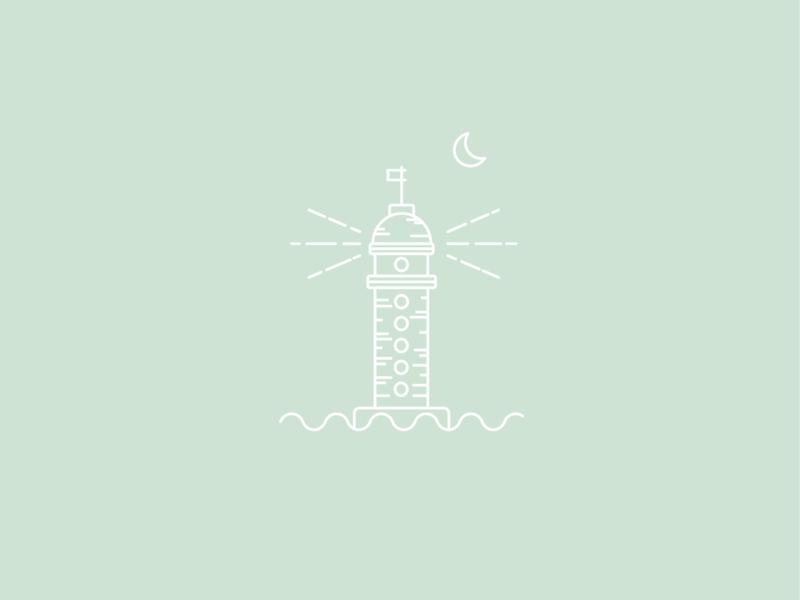 Lighthouse line illustration line art minimal illustration icon logo architechture typography minimal minimalism illustration colors mono weight minimalism illustration vector design