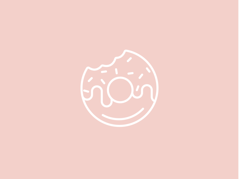 Donut desserts dessert donut minimal illustration logo icon line art branding architechture minimal typography minimalism illustration colors mono weight minimalism illustration vector design