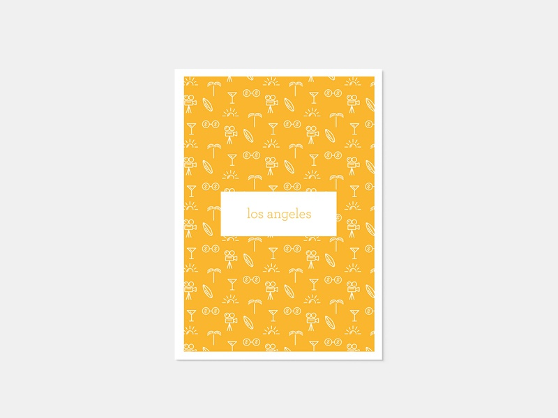 Los Angeles Post Card minimal illustration line art icon minimal typography minimalism illustration colors mono weight minimalism illustration vector design