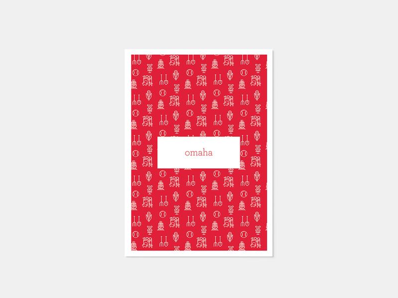 Omaha Post Card line art minimal illustration icon minimal typography minimalism illustration colors mono weight minimalism illustration vector design