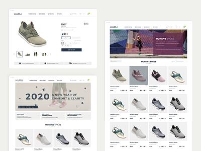 Kuru Footwear design ux ui