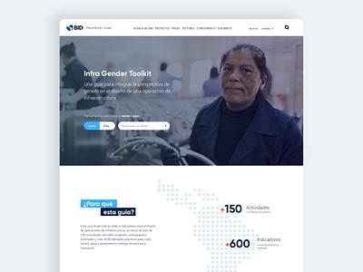 Gender Toolkit IDB webdesign design ux ui