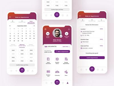 Vitalant Mobile App app ux ui design