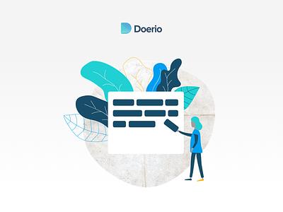 Doerio Ilustration vector illustration logo branding design