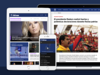 Venevision Website redesign