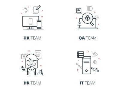 Team Illustrations icon vector illustration design