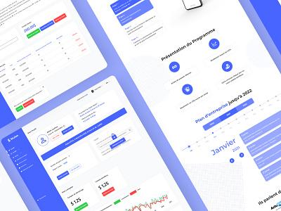 STULAN - Investment site dashboard ui dashboad ux ui design material design branding ux figma ui design