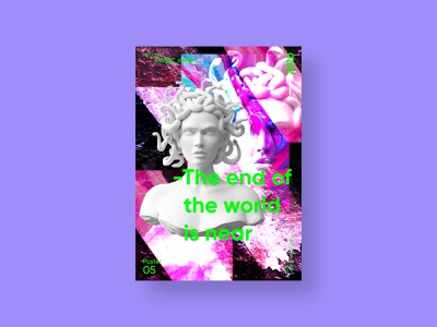 The end of the world is near | VISION™ 01 - 2020 art direction grunge photoshop art photoshop poster design poster art poster a day poster art illustration