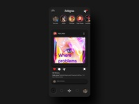 Neumorphism Instagram Dark Mode