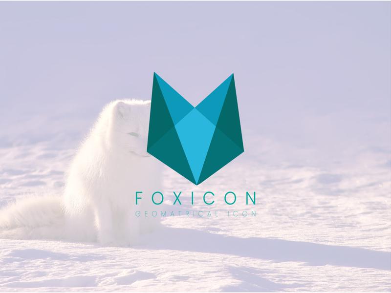 Foxicon - Flat - Modern - Minimalist - Business - Icon Logo portfolio design logofolio vector illustrator minimal unique logo company logo professional logo business logo brand identity branding modern flat custom creative icon fox logo