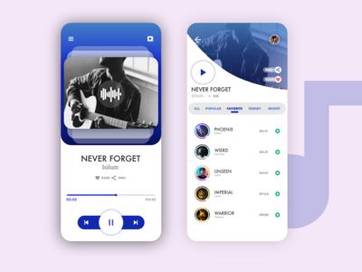 MUSIC APP | Design