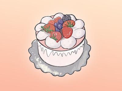 Cake procreate illustration cake