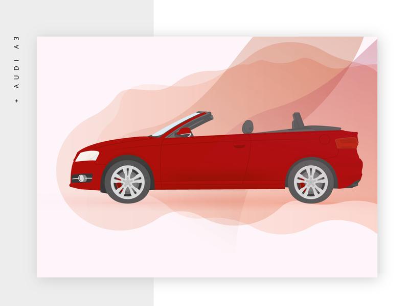 Audi A3 audi car illustrator adobe vector illustration flat