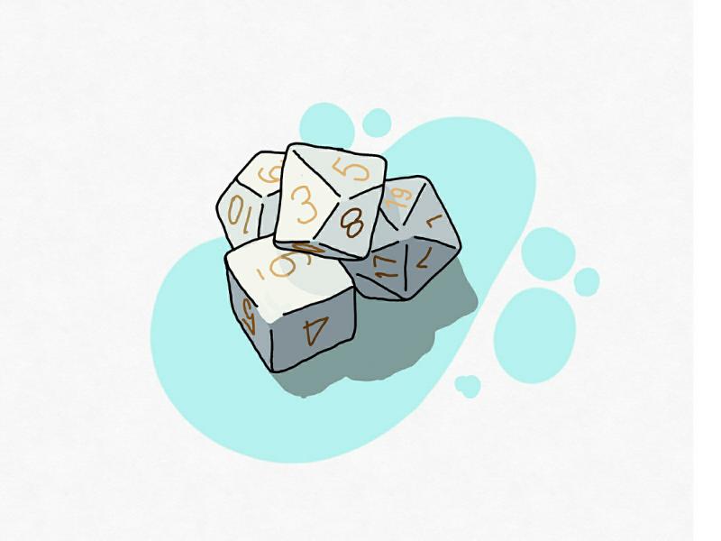 DnD dice drawing vector games adobe tabletop rpg dnd dice illustration illustrator