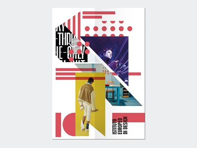 Istituto Europeo di Design - New communication material geometric shapes graphic education poster flyer brochure print design graphic design school branding