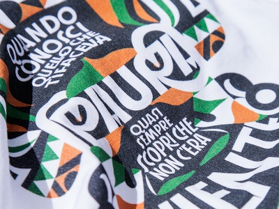 T-shirt for Worthwearing / Medici Senza Frontiere design for good illustration geometric custom type artwork