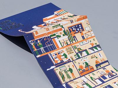 Istituto Europeo di Design Season Greetings lettering illustration artwork