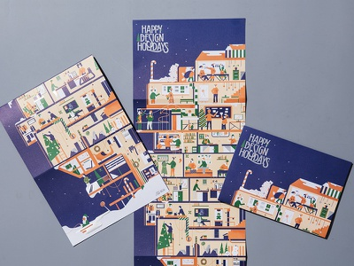 Istituto Europeo di Design 2018 Season Greetings vector lettering graphic design illustration artwork