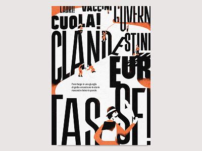 Farsi largo in una giungla di grida custom type geometric design typography lettering illustration
