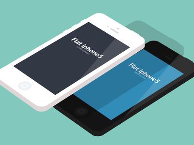 Freebie - Flat iphone5